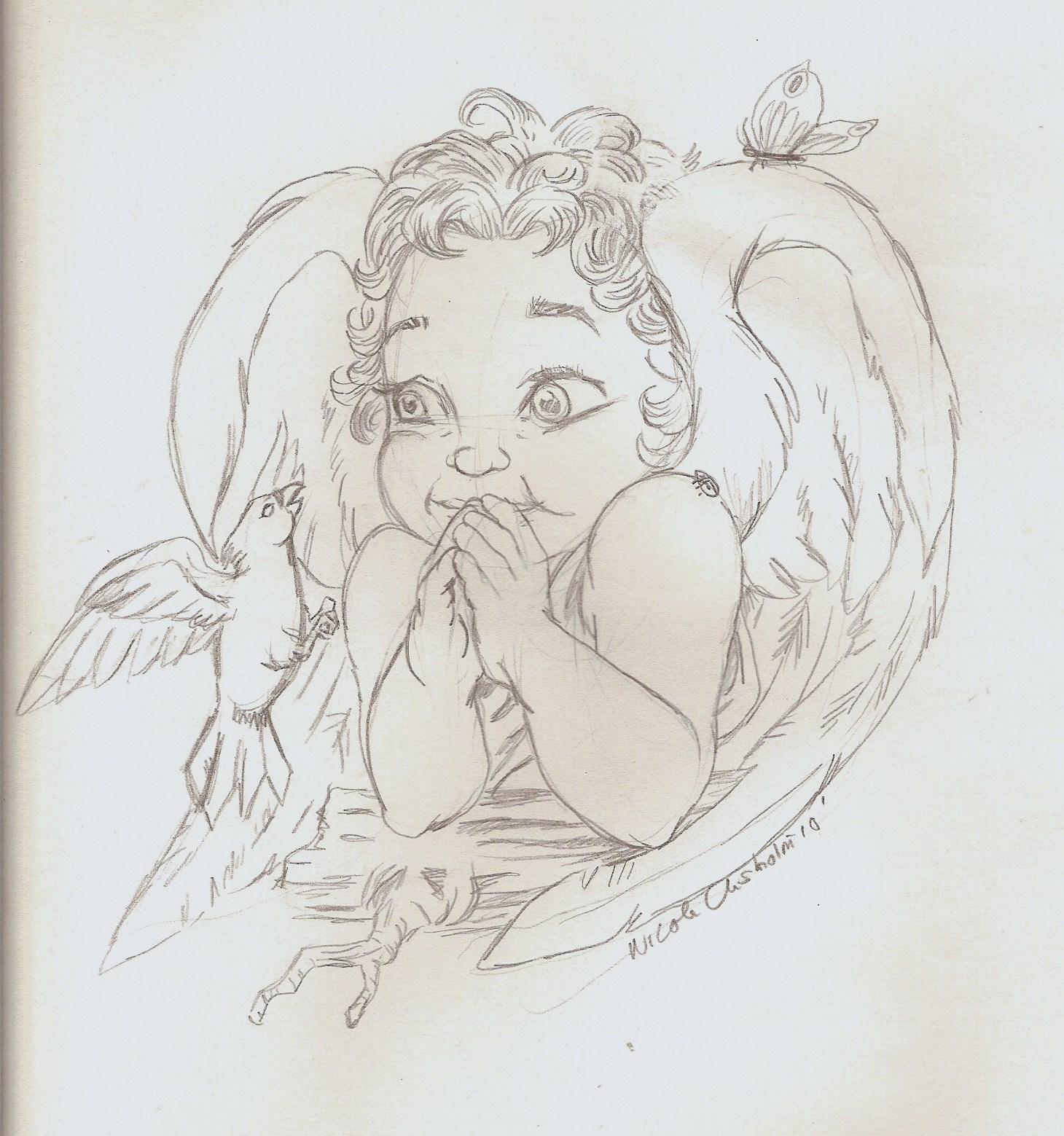 1460x1559 Baby Angel Drawings Drawn Toon Angel Baby