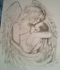 203x237 Some Guardian Angel Sketches Angel Sketch, Guardian Angels