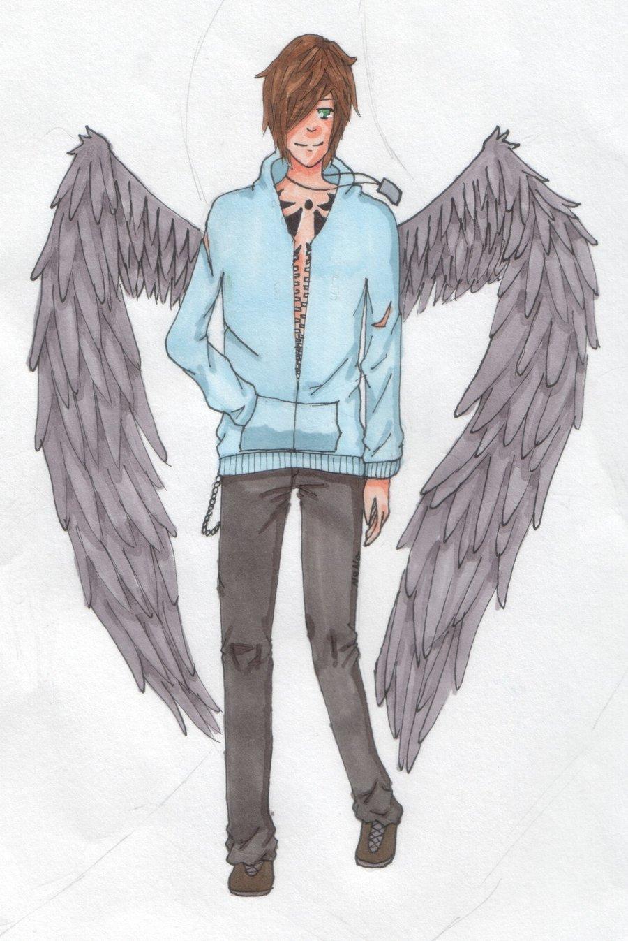 900x1347 Anime Boy With Angel Wings Anime Angel Boy By Neko Loverx3 Manga