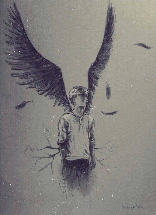 500x688 Boy Angel Draw Uploaded By Katherine On We Heart It