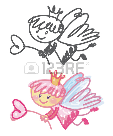 373x450 Vector Cute Angel Cartoon. Royalty Free Cliparts, Vectors,