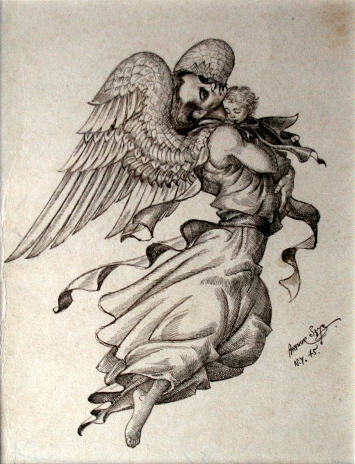 708x925 Angel Guardians, A Survey Maureen Mullarkey