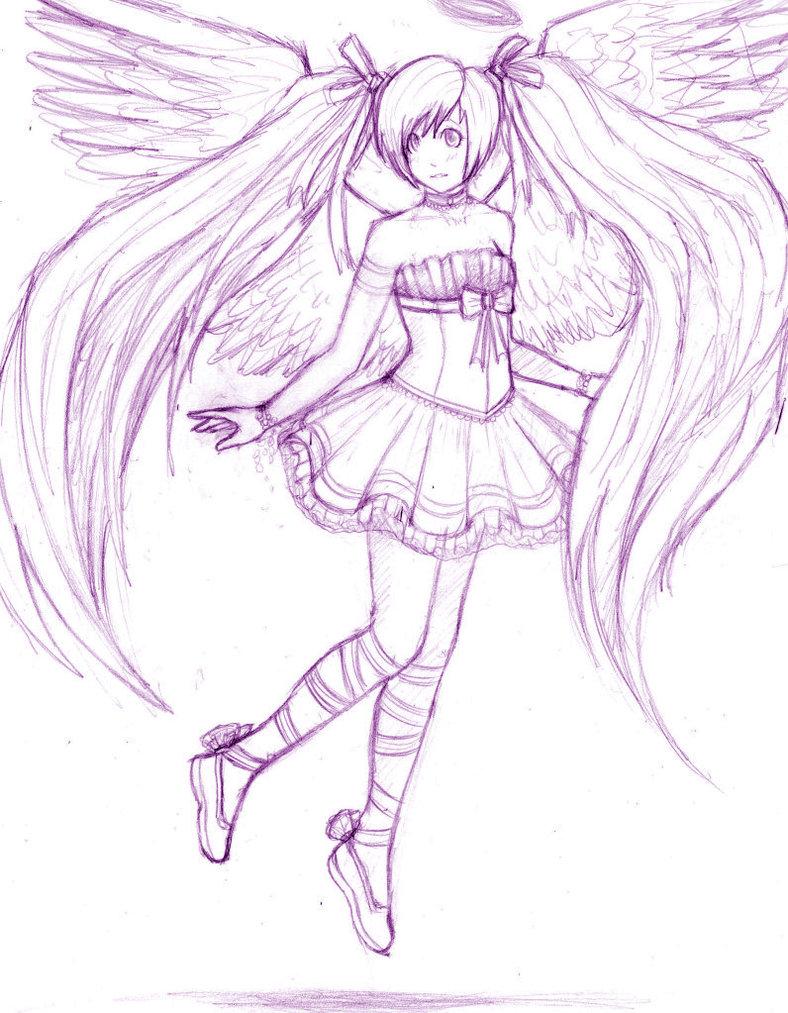 788x1013 Anime Angel Drawing Anime Angel Wipstalaxy