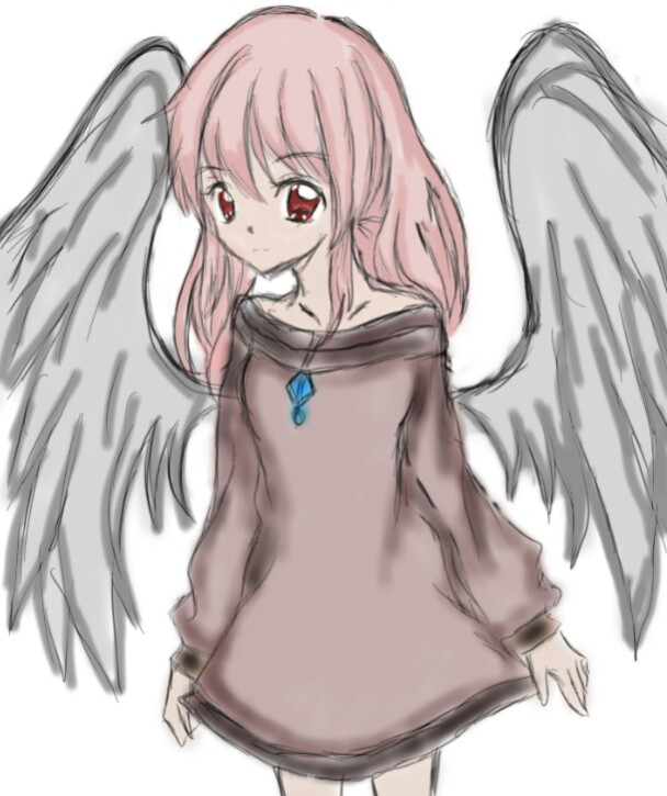 608x725 Anime Angel Drawing. [Izayoi Totsumipinkyyanachan]