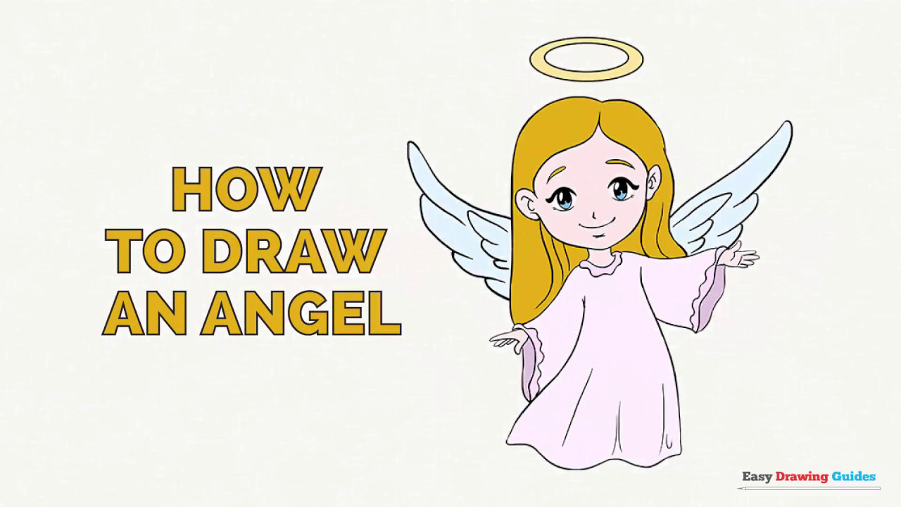 1280x720 How To Draw An Angel In A Few Easy Steps Drawing Tutorial