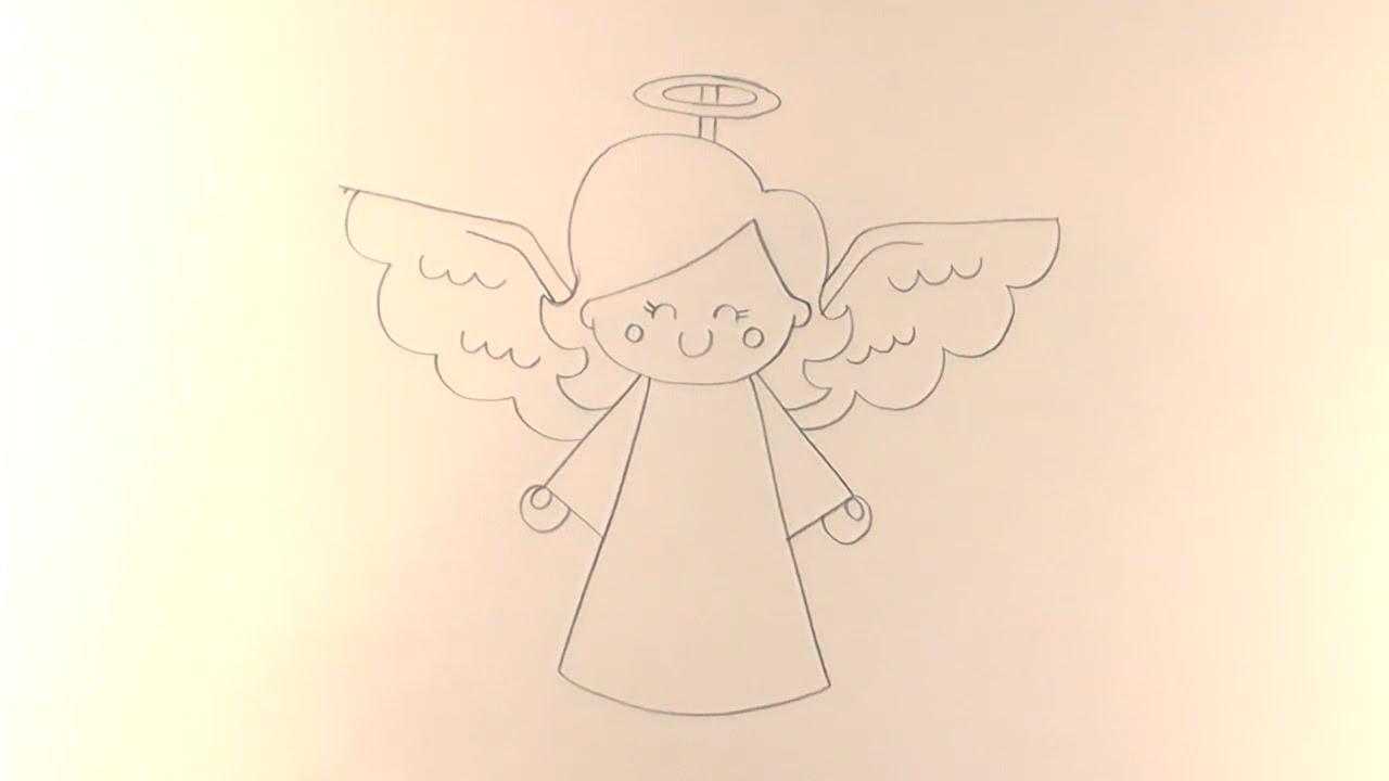 1280x720 R.e.a.p How To Draw A Cartoon Christmas Angel