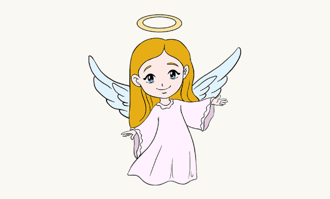 662x400 Gallery How To Draw An Angel Easy,
