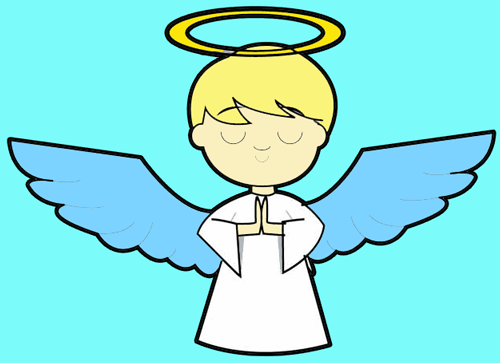 500x363 How To Draw Cartoon Angels In Easy Step By Step Drawing Tutorial