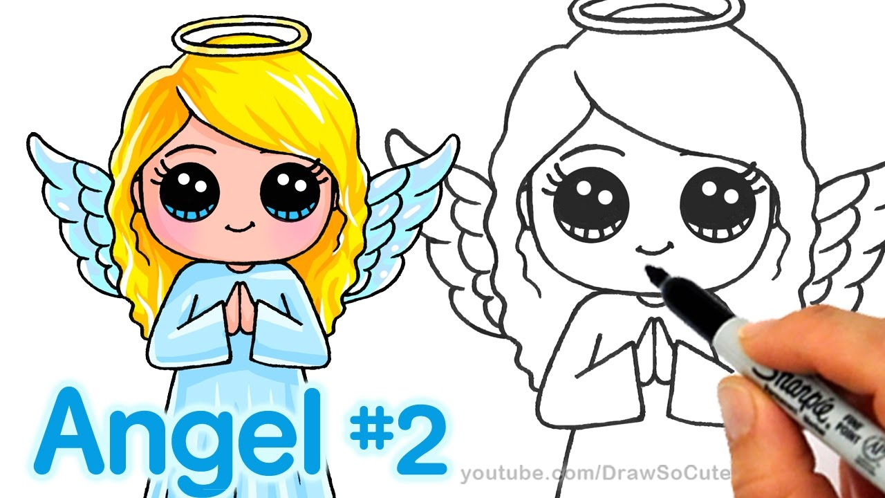 1280x720 How To Draw An Angel Step By Step Cute And Easy