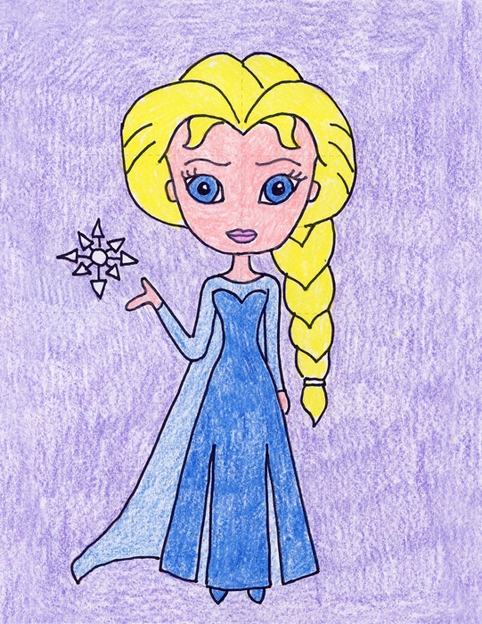 541x700 How To Draw Elsa