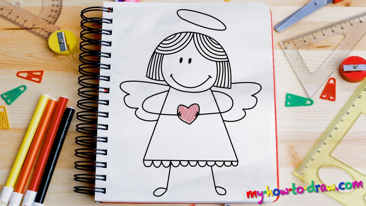 1280x720 How To Draw An Angel