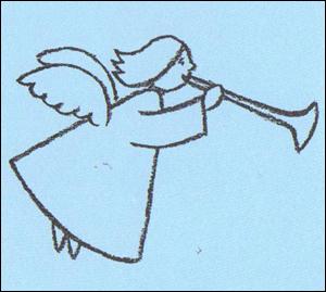 300x269 How To Draw A Christmas Angel Homeschool Fun Lt3