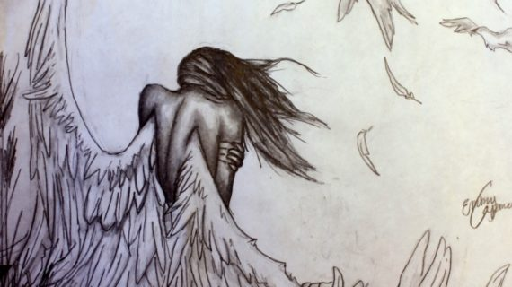 570x320 Angel Drawings In Pencil Speed Drawing Angel Pencil Youtube