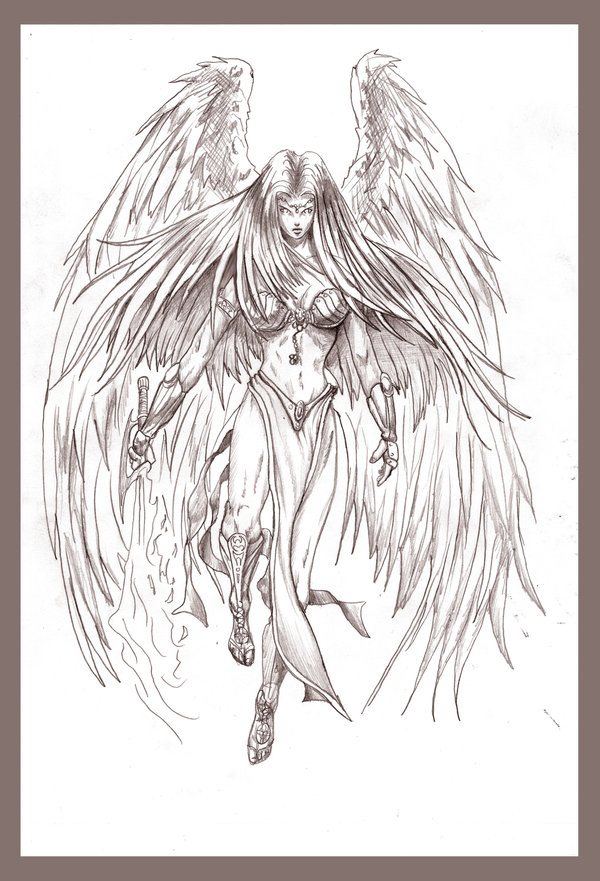 600x881 Pencil Drawings Pencil Drawings Of Angels