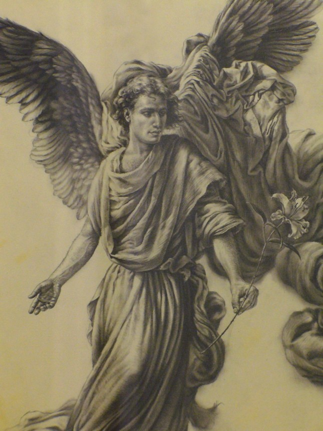 645x860 Photos Angels Pencil Painting,