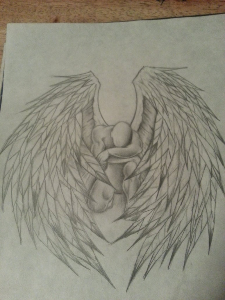 774x1032 Angel Drawing By 12highonlife14