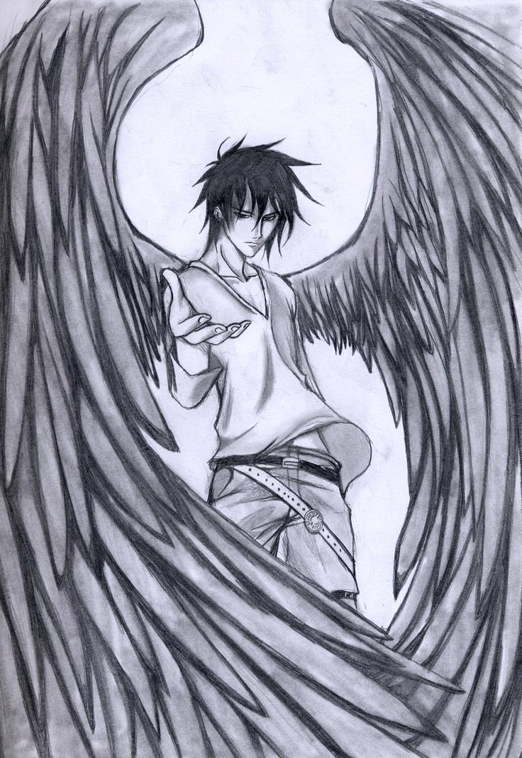 736x1069 Anime Angel Drawing