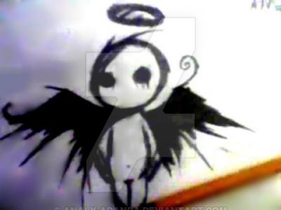 400x300 Dark Angel Drawing By Analy Aranda