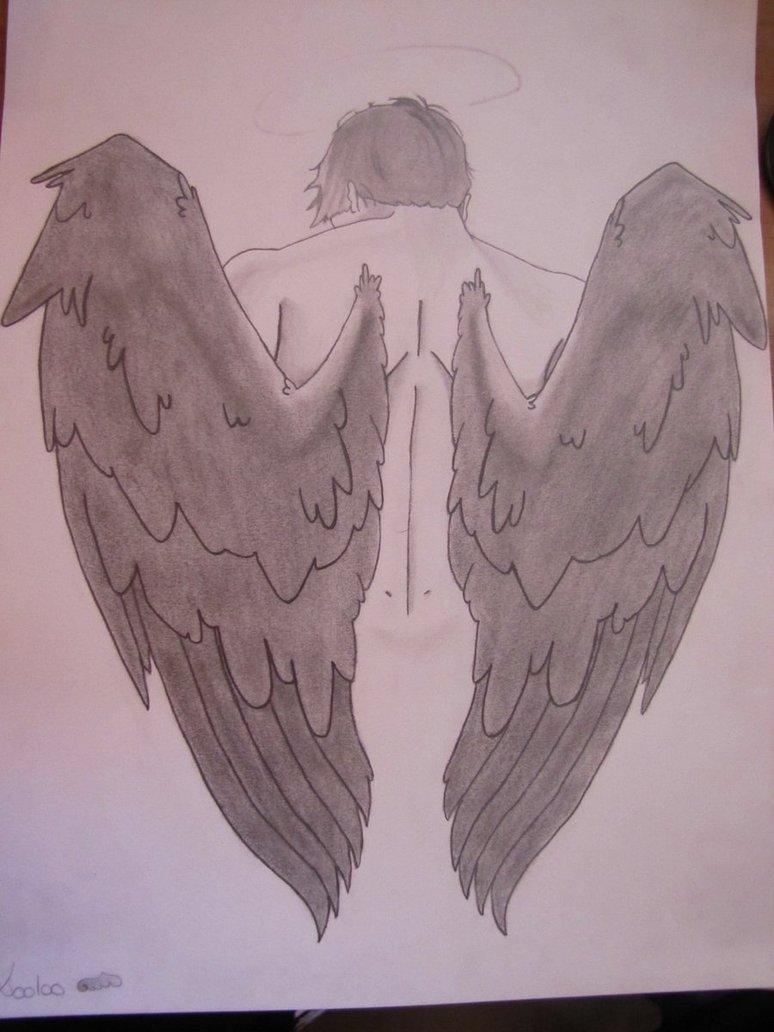774x1032 Fallen Angel Castiel By Lololalolotte
