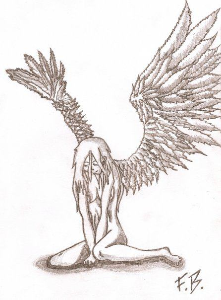 446x604 My Guardian Angel Drawing. A Student With Mental Illness My