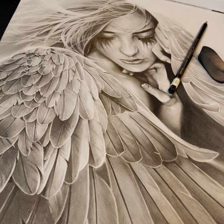 736x736 Photos Beautiful Angel Sketches,