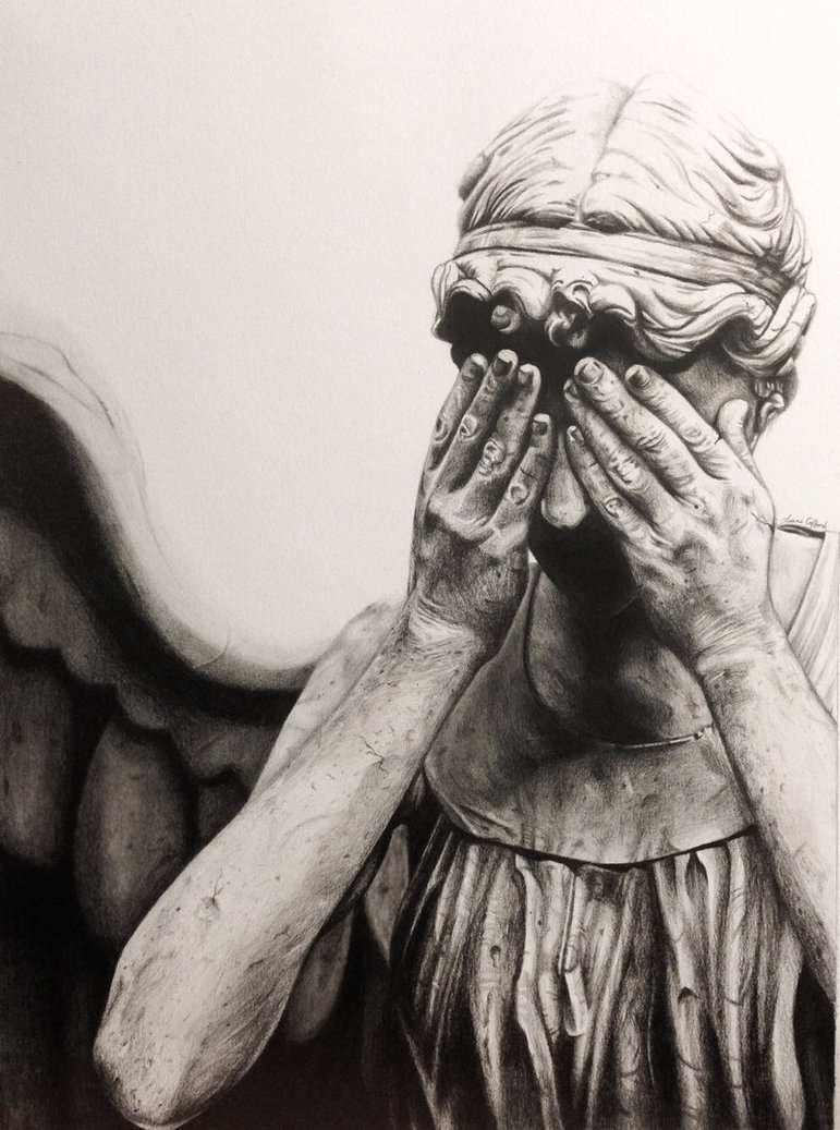 771x1037 Weeping Angel Drawing By Myawho