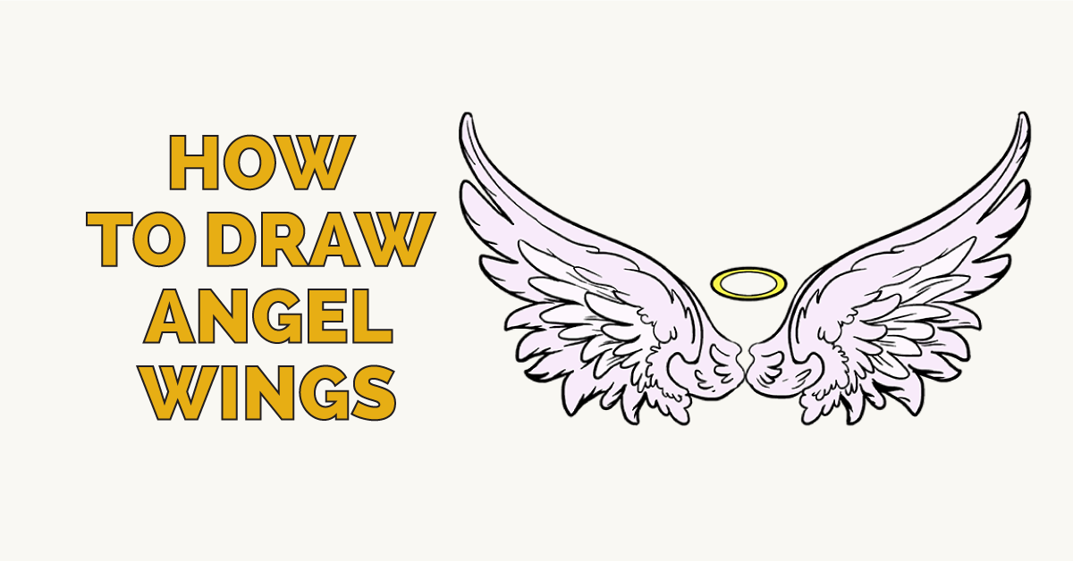 1200x628 How To Draw Angel Wings In A Few Easy Steps Angel, Draw And Easy