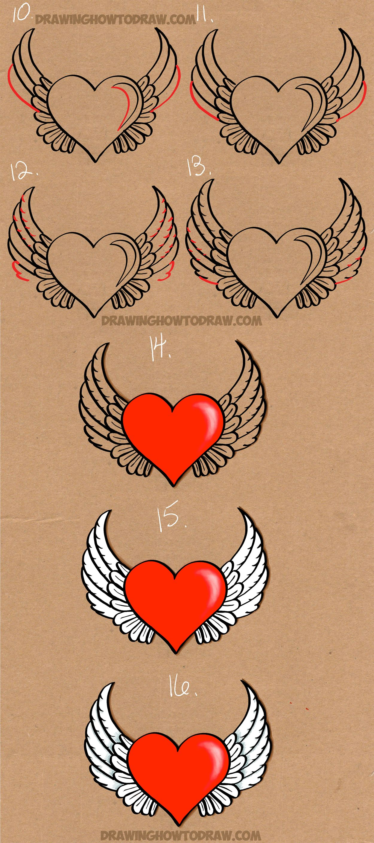 1250x2820 How To Draw A Winged Heart
