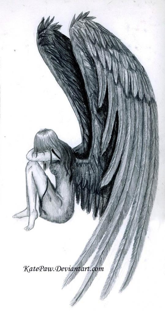 539x1024 Fallen Angel Drawing Ideas About Fallen Angel Tattoo