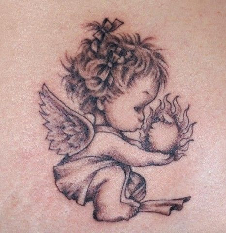 466x480 55 Most Amazing Angel Tattoos And Designs