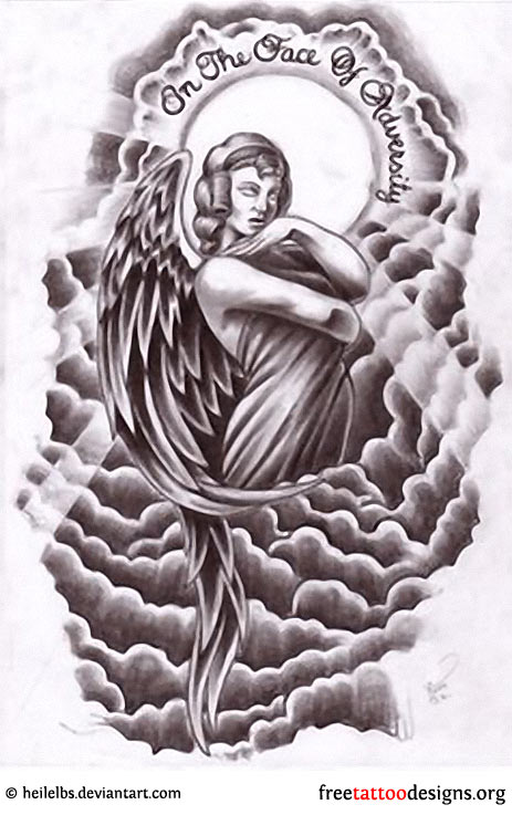 463x737 Angel Tattoos Angel Wings, Guardian Angel And St Michael Designs