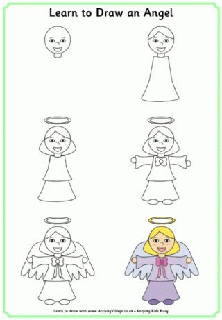 320x461 Learn To Draw An Angel Christmas Amp Winter Drawing Ideas Easy