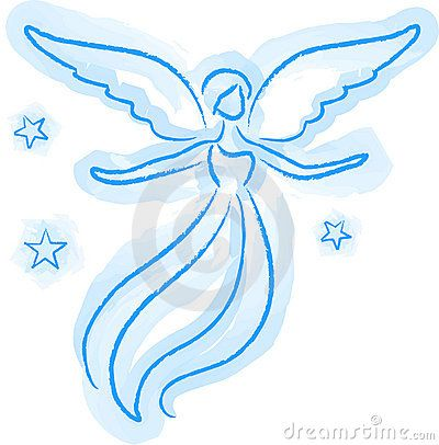 400x406 Pictures Simple Drawing Of An Angel,