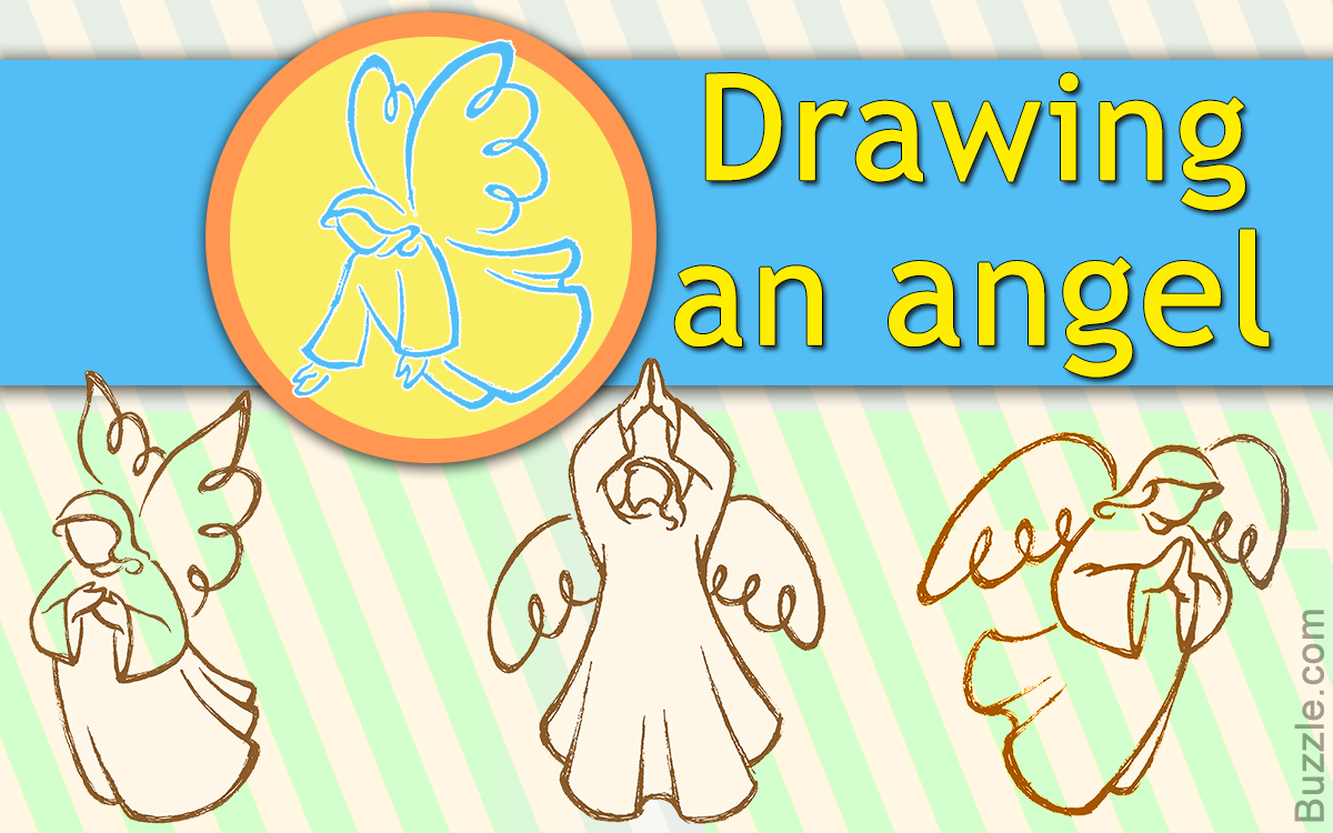 1200x750 Super Fun And Easy Steps For Kids To Draw The Cutest Angel Ever