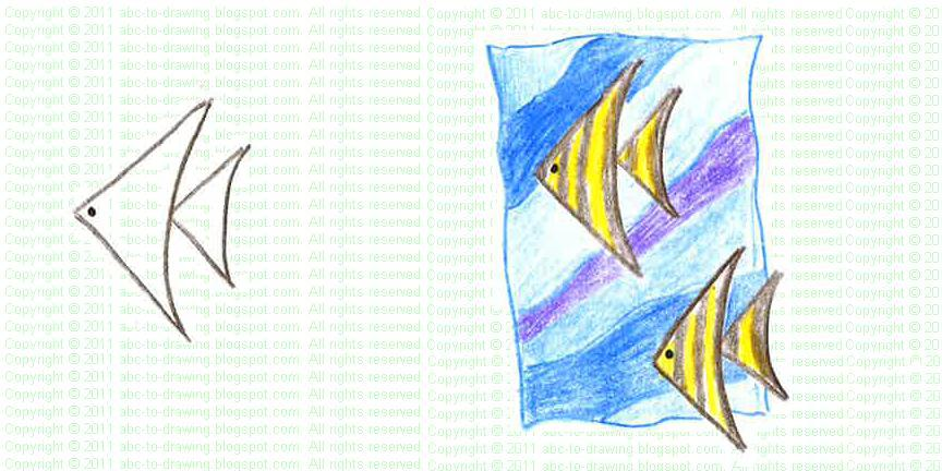 864x432 Abc To Drawing Angel Fish