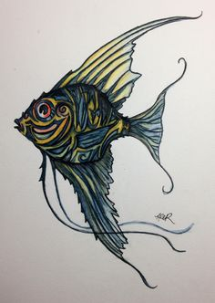 236x332 Angelfish Tattoo Idea For Outer Left Thigh Tattoos