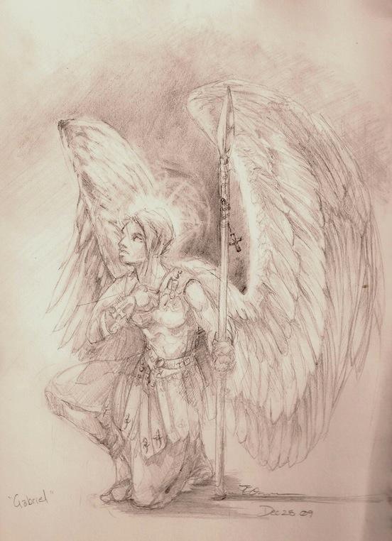 552x762 Angel Gabriel By Elementaljess