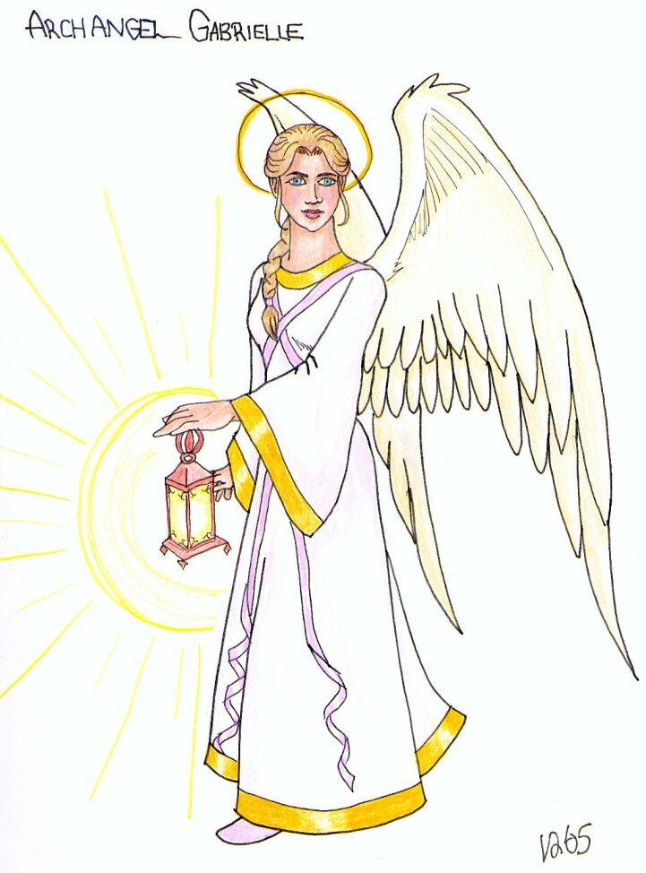 721x974 Archangel Gabriel By Doublevisionary