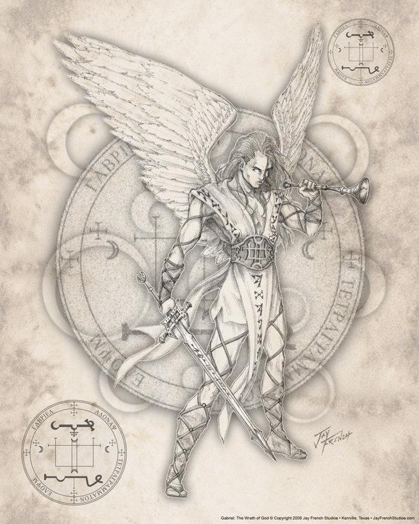 600x750 Archangel Gabriel By Jayfrench