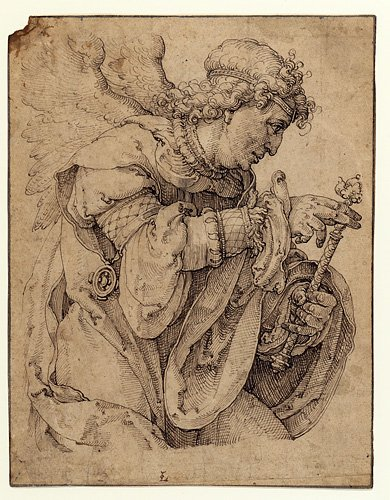 390x500 Drawing Of The Archangel Gabriel By Lucas Van Leyden Acquired By