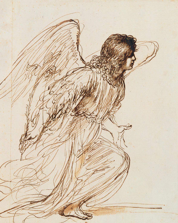1197x1500 The Angel Of The Annunciation, Giovanni Francesco Barbieri Known