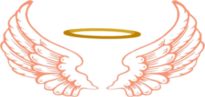 296x141 Angel Halo With Wings2 Clip Art