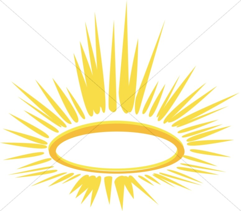 776x679 Glowing Halo Religious Christmas Clipart