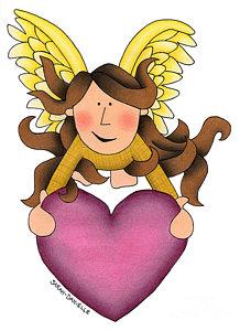218x300 Angel Heart Drawings Fine Art America