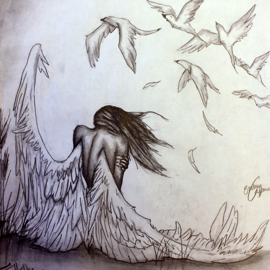 1024x1024 angel pencil drawing hd wallpaper angels drawings pencil angel