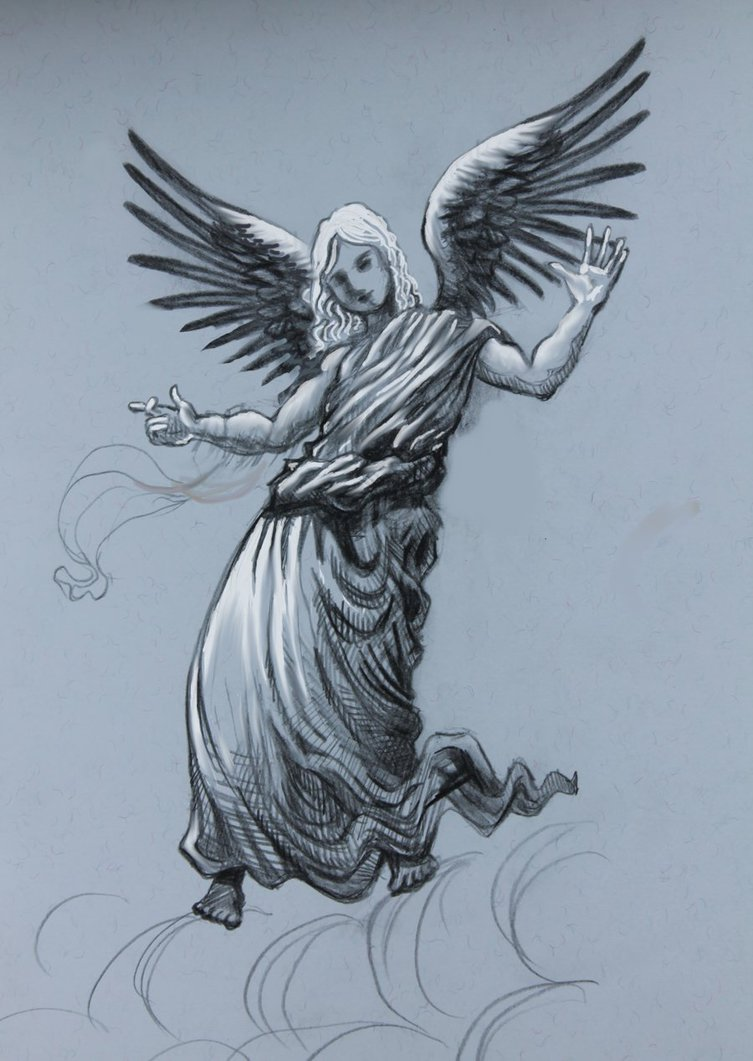 753x1061 Angel Pencil Drawing By Divinelightangels