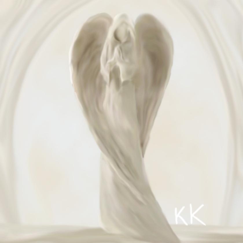 840x840 Praying Angel By Kayakure