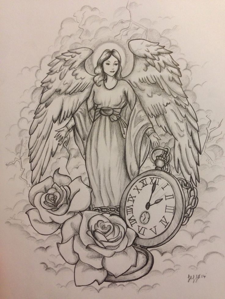 736x981 Guardian Angel Tattoo Design, Commission By Jeffica Alice