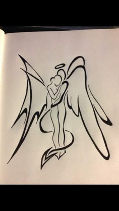 236x418 Angel Devil Heart Tattoo Ideas Devil, Angel And Tattoo