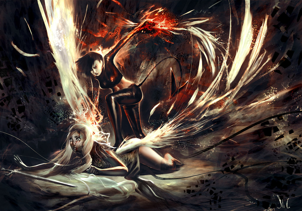 1024x718 Devil V Angel By Junedays On Angels Amp Demons